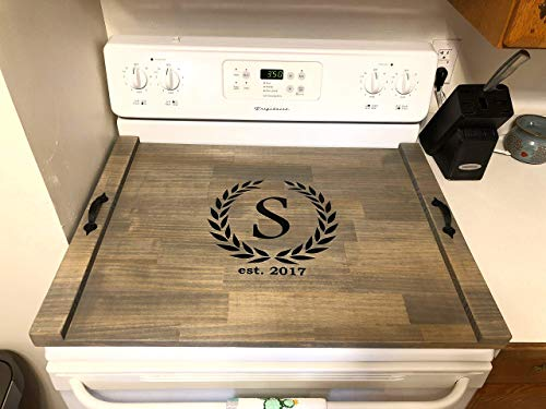 Rustic Stove Top Cover, Wood Tray For Stove, Personalized Stove Cover, Cook Top Tray Decorative Tray