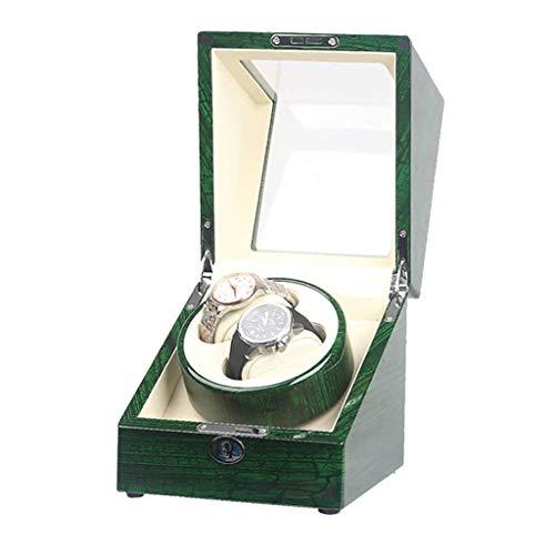 Enrollador de Reloj Cajas de enrollador de Reloj 2 + 0 Mecánico automático Caja de enrollamiento de Reloj Acorde Desde Que se Abre la Tapa Enrollador de Reloj de Parada