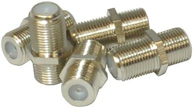 5 x conector tipo F acoplador hembra a hembra Cable satélite junta Cambiador de Género (importado)