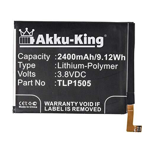 Akku-King Akku kompatibel mit Wiko TLP1505 - Li-Polymer 2400mAh - für Ridge, Ridge 4G, Ridge Dual SIM LTE, M531