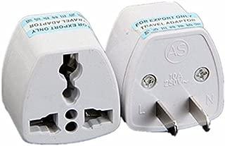 ANRANK UAE25010AK 2 Packs High Performance Universal UK/EU/AU to US Adapter Travel Power Plug Adapter Converters