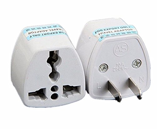 ANRANK UAE25010AK 2 Packs High Performance Universal UK/EU/AU to US Adapter Travel Power Plug Adapter Converters