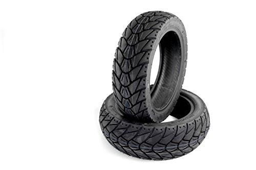Allwetter Roller Reifen Set Kenda K415 120-70-12 + 130-70-12 kompatibel mit Aprilia Yamaha Kymco und vielen weiteren Modellen