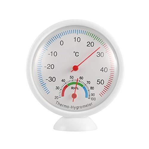 WS-A1 Termómetro para Interiores y Exteriores Higrómetro Medidor de Temperatura portátil Termohigrómetro de plástico Herramientas de Cocina para el hogar (Blanco)