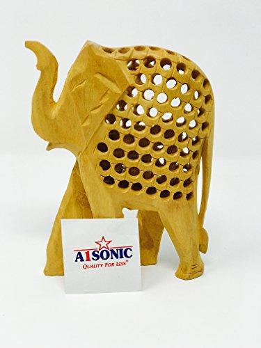 A1SONIC® Estatua de Elefante de Madera Real de 20