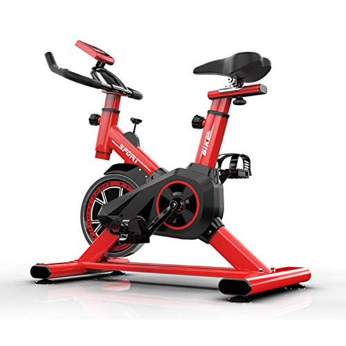 Mugar Bicicleta Estática Spinning MG-Varios Modelos, Fitness Spinning Bike Aerobic Home, silenciosa con Pantalla táctil, Diferentes resistencias (Rojo) para Personas hasta 1.65 M Altura