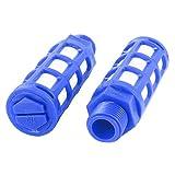 Sourcingmap - 2pcs silenziatore di scarico per dell'aria silenziatore pneumatico 1/2 pt filetto maschio di plastica