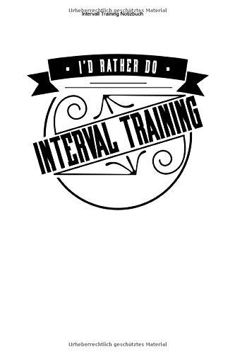 Intervall Training Notizbuch: 100 Seiten | Linierter Inhalt | Team Cardio Geschenk Ausdauersport Workout Sportart Ausdauer Fitness Sport