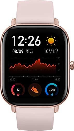 Amazfit GTS Smartwatch - mit Herzfrequenz-Messung, AMOLED-Display, Gorilla Glass 3 - 5ATM wasserdicht, Rose Pink