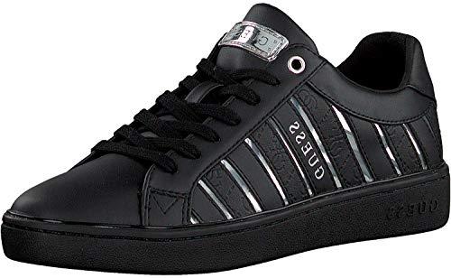 Guess I- Bolier-EU, Scarpe con Lacci Donna, Multicolore (Black/Silver), 35