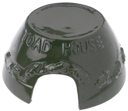"""Esschert Design Toad Home from Glazed Clay with """"Toad House"""" Inscription, Approximately 20 cm X 19 cm X 9.9 cm"""