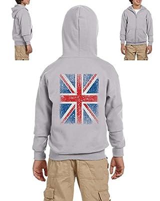 Ugo Union Jack British Flag Matching Couples Birthday Christmas Gift Heavy Blend Youth Full-Zip Hooded Sweatshirt