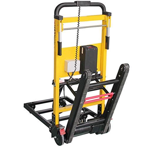 XH-Tool Carrito para Subir escaleras eléctrico Tipo Oruga Capacidad de 200 kg, Cuerpo de aleación de Aluminio - Batería de Litio extraíble de 20V - Motor Potente de 120W