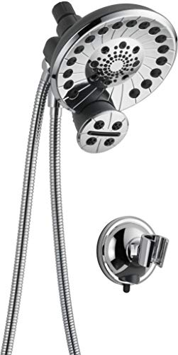 Peerless Sidekick Touch-Clean Shower Head with Hand Held Shower Head with Hose, Chrome 76465