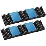 ヒートシンク 20mmX14mmX6mm firetv スティック ブラック 熱伝導性両面テープ付き 熱暴走対策 密度が高い歯 冷却フィン アルミニウム製 放熱板 DIYキット ICチップ MOSFET 回路基板 ハイパワーLEDアンプに適用 10個入り