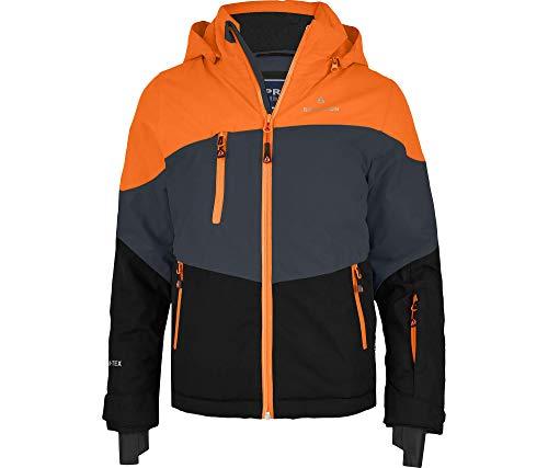 Bergson Forvert Kinder Skijacke Volker neo (Maxi), Ebony/Persimmon orange/Black (, 176 - Kinder