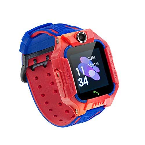 Sami - Kids - Smartwatch, Reloj Inteligente Infantil, Smartband, Pulsera de Actividad Deportiva. para Android y iOS. WiFi,Número SOS,GPS,Función Valla,Cámara y Escucha Remota,Multideportivo. Rojo.