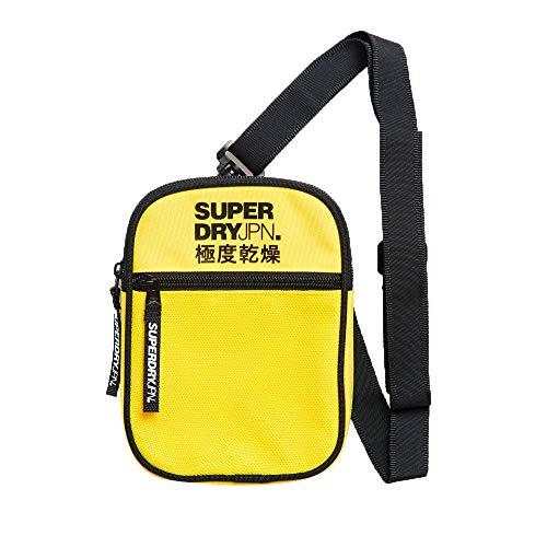 Superdry Herren Sport Pouch Geldbörse Gelb (Bright Yellow)
