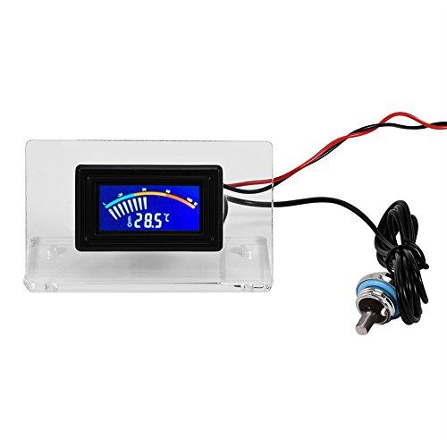 Richer-R 水冷却温度検出器 PCコンピュータ水冷温度検出器 防水プローブ付き デジタル/ダイヤル温度計LCDスクリーンフレームキット(ダイヤル)