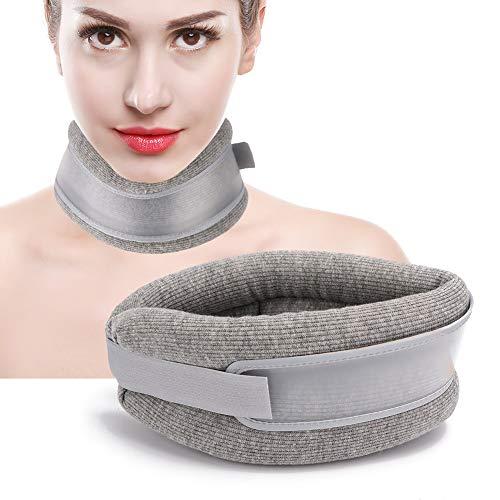 Befestigungsgurt für Halswirbel Zugvorrichtung für Halswirbel Komfortabel zur Verbesserung der Mikrozirkulation des Halses für fit Halskurven(Gray, One Size)