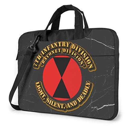 7th Infantry Division Laptop Bag One Shoulder Shockproof Laptop Bag