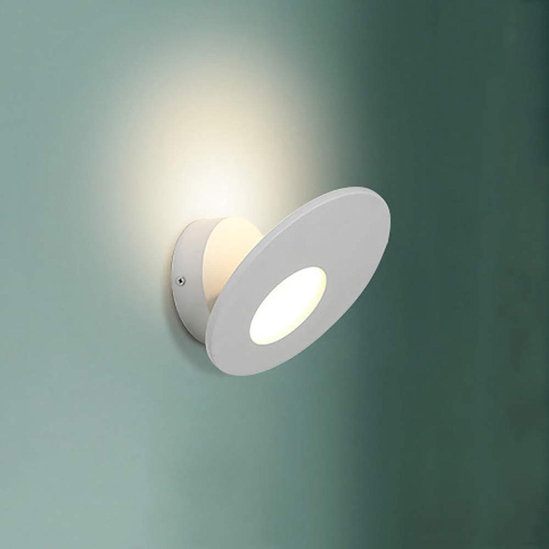 CYRDJ Moderne Wandleuchten, LED Einfachheit Einstellbare Kreative Wandleuchte, Acryl Nachttischlampe Hauptbefestigungen für Wohnzimmer Studie Warmwei,Weiß