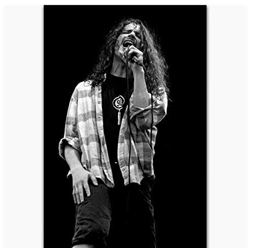 Nuevo Chris Cornell Rock Music Singer Star Art Poster Wall Art HD Impresión en Lienzo Obra de Arte Regalo -50x75cm Sin Marco