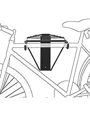 Relaxdays 1 – 2 bisiklet için bisiklet tutucu, duvara monte etmek için bisiklet tutucu, maks. 50 kg, Y x G x D 32 x 30 x 52 cm, siyah