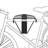 Relaxdays Soporte Bicicletas de Pared, Negro, 32 x 30 x 52 cm