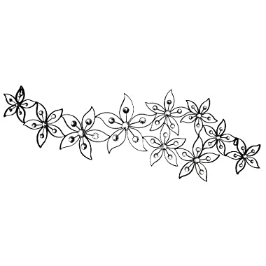 Home Source 400-22330 Decorative Metal Wall Art, 41.3-Inch by 12.8-Inch by 0.79-Inch