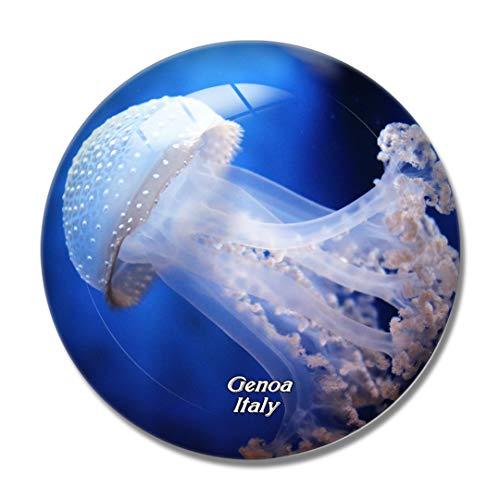 3D-Kühlschrankmagnet mit italienischem Aquarium von Genua, Kühlschrankmagnet, Whiteboard, Souvenir, Kristallglas