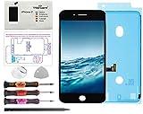Trop Saint® Pantalla para iPhone 7 Negra - Premium Kit de reparación LCD con Guía, Herramientas y Pegatina Adhesiva Impermeable