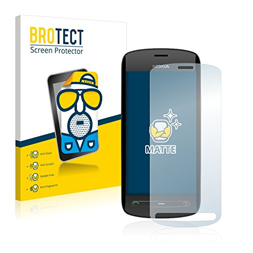 BROTECT 2X Entspiegelungs-Schutzfolie kompatibel mit Nokia 808 PureView Bildschirmschutz-Folie Matt, Anti-Reflex, Anti-Fingerprint