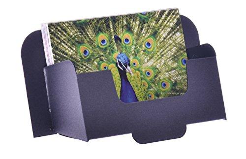 Stand-Store card-a6l cartón dispensadores de folletos para folletos y postales (A6, horizontal, color negro (Pack de 50)