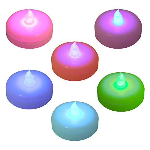 Lumabase 55406 Battery Operated Floating LED Candles (6 Count), Color Changing
