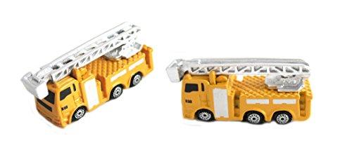 Unbekannt Manschettenknöpfe Feuerwehr Einsatzfahrzeug Leiterwagen silbern gelb schwarz + Geschenkbox