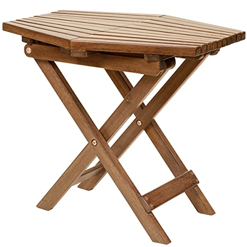 CleverMade Tamarack Folding Table - Outdoor Patio Furniture Accessory for Home Entertaining in the Patio, Backyard, and Deck