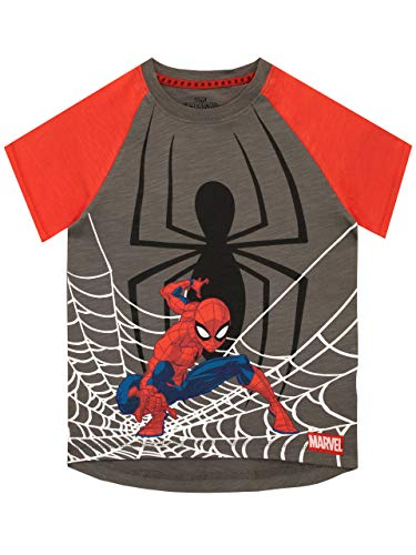Spiderman T-shirt con stampa spiderman per bambino 5-6 anni Multicolore