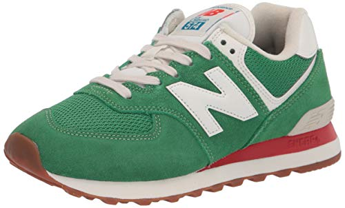 New Balance Tenis Iconic 574 V2 para hombre, verde (Varsity Green/Velocity Red), 46.5 EU