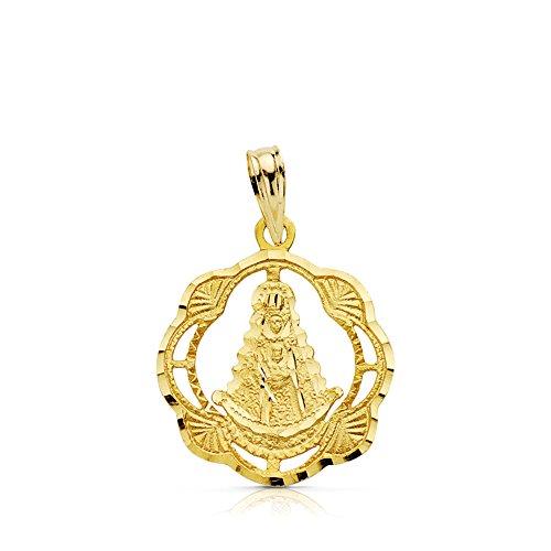 Medalla Virgen del Rocío de 17 mm en oro de 18 Ktes