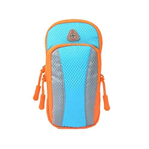 Gym Bags Bolsa de deporte con brazo para correr, para hombres y mujeres, equipo de fitness deportivo, funda para brazo de teléfono móvil, bolsa de muñeca (color: A, tamaño: 17 x 9 cm)