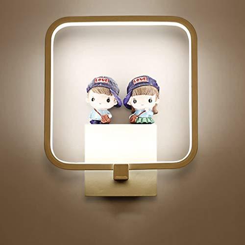 LED Applique Murale Lampe pour Enfants Lampe Moderne Carré Design Applique Lampe de Chevet Creative Acrylique Intérieur Décorative Enfants Chambre Fille Chambre Couloir Naturel Lumière 15W