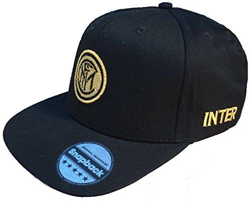 F.C. Inter de Mailand officiële platte pet met gouden logo hip hop