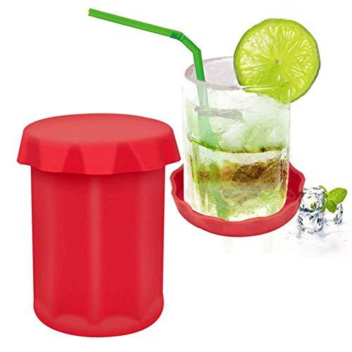 Silikon-EIS-Cup-Maschine für Bier Wodka Whiskey, Cocktails, Bourbon und mehr, Eiswürfel Frost-DIY-Schnapsglas-Form-Stab-Partei-Getränk
