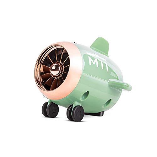 CMmin Mini Bluetooth-luidspreker, draagbare bluetooth-luidspreker, kleine vliegtuigen, bluetooth-luidspreker, outdoor draadloze subwoofer, draagbare stereo-subwoofer, USB-oplader, groen