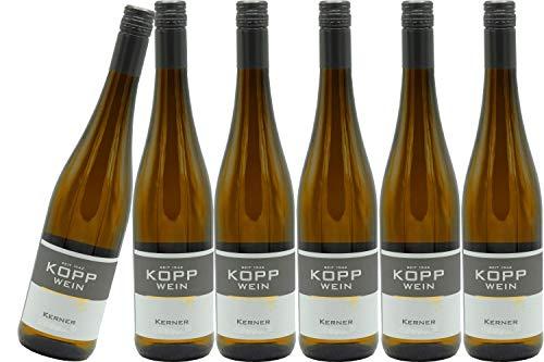 6 Flaschen 2019er Kerner Spätlese Weißwein lieblich 0,75l, direkt vom Erzeuger: Weingut Kopp in Ranschbach