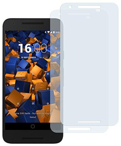 mumbi Schutzfolie kompatibel mit LG Google Nexus 5X Folie klar, Bildschirmschutzfolie (2X)