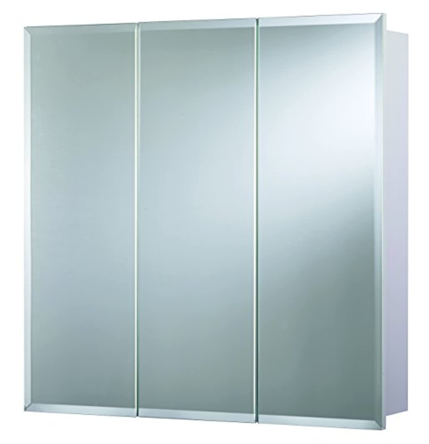 Croydex Heacham 30-Inch x 30-Inch Triple Door Tri-View Cabinet with Hang 'N' Lock Fitting System
