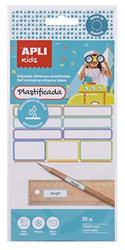 APLI Kids 17794 - Etiquetas adhesivas plastificadas 35 uds.