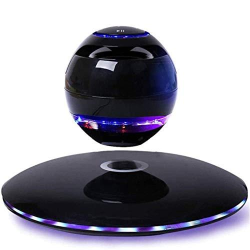 ROSG Altavoz UFO suspendido con Luces LED flotantes suspendidas, 360 & deg;Subwoofer Giratorio, decoración de Habitaciones, luz Nocturna, Juguetes de Escritorio de ofici